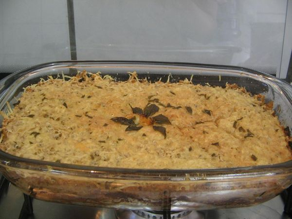 Escondidinho de atum com arroz integral