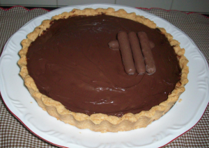 quiche de banana com chocolate receita