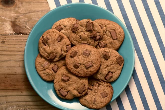 Cookies com chocolate