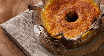 Corn,Cake,In,The,Straw.,Homemade,Cake.,Typical,Of,Brazil