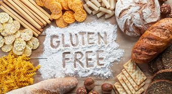 Gluten,Free,Food.,Various,Pasta,,Bread,And,Snacks,On,Wooden