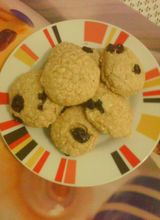 Foto da receita Cookies de aveia light