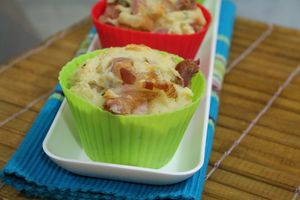 Muffin de queijo e bacon