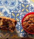 Muffins de banana com chocolate